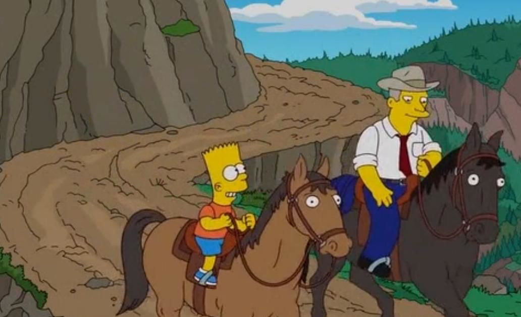 Симпсоны — s23e02 — Bart Stops to Smell the Roosevelts