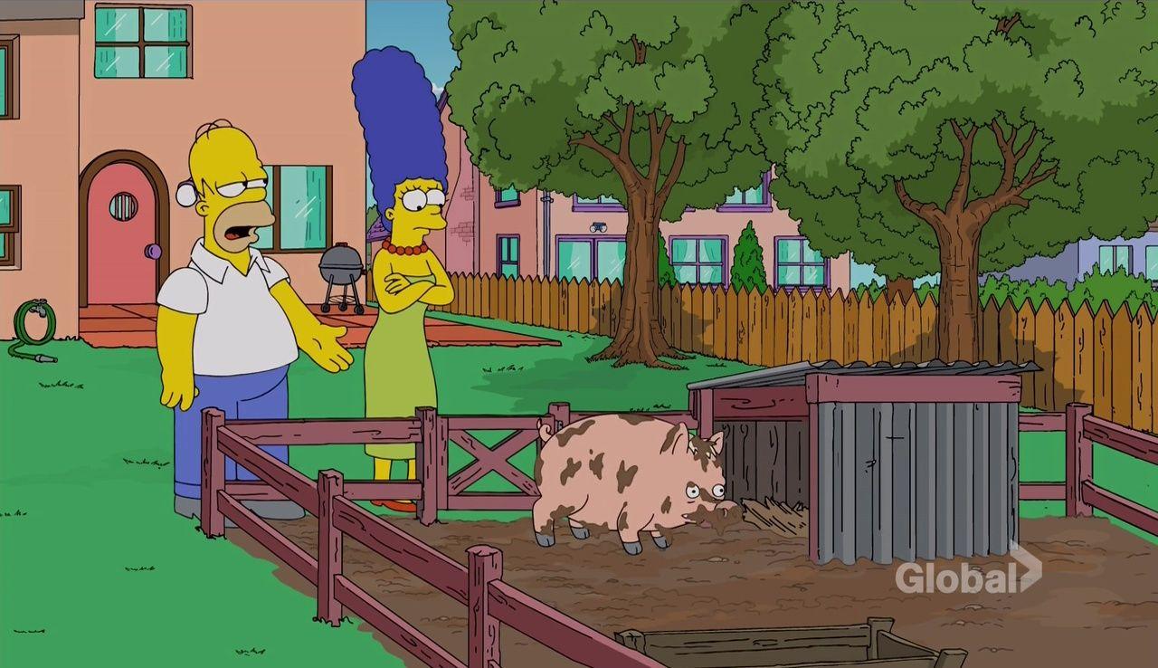 Симпсоны — s28e11 — Pork & Burns