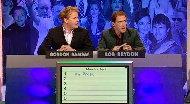 Большая жирная викторина — s2005e01 — The Big Fat Quiz of the Year 2005