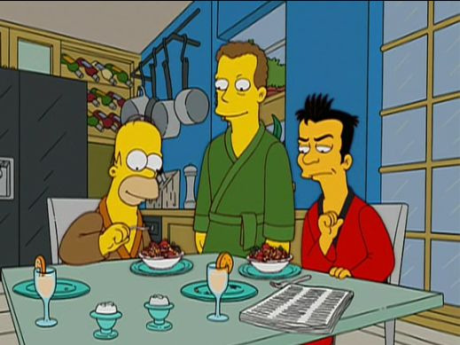 The Simpsons — s14e17 — Three Gays of the Condo