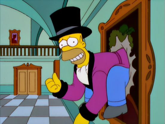 The Simpsons — s11e12 — The Mansion Family