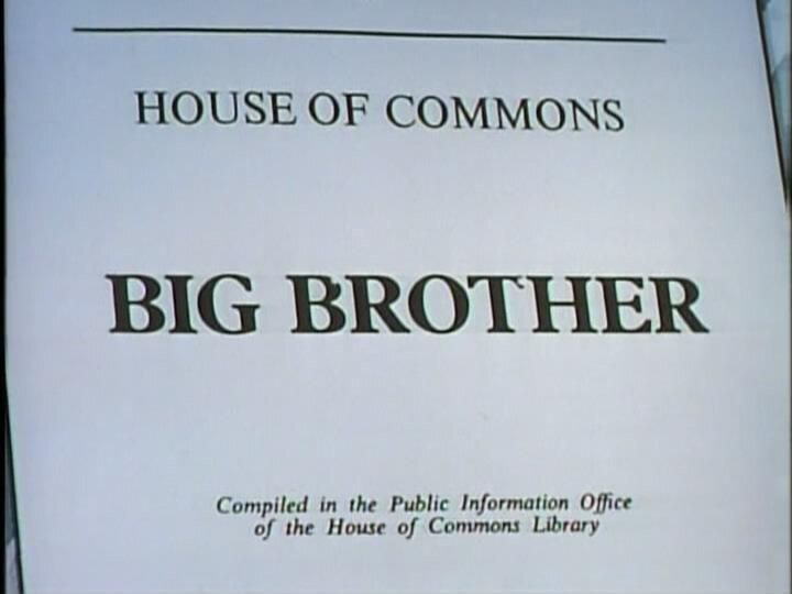 Да, господин министр — s01e04 — Big Brother