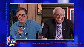 Вечернее шоу со Стивеном Колбером — s2021e61 — Senator Bernie Sanders, Julia Michaels (Live Show)