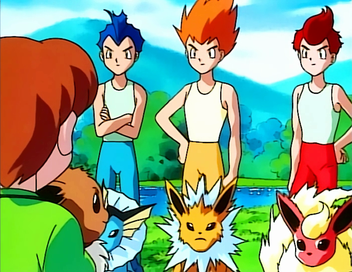 Покемон — s01e38 — The Battling Eevee Brothers