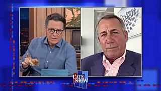 Вечернее шоу со Стивеном Колбером — s2021e51 — John Boehner, Shelley FKA DRAM