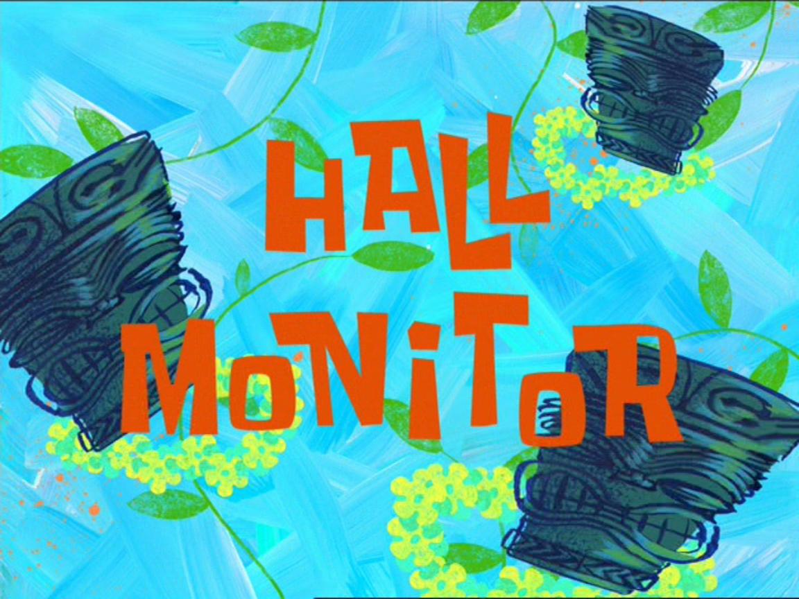Губка Боб квадратные штаны — s01e14 — Hall Monitor