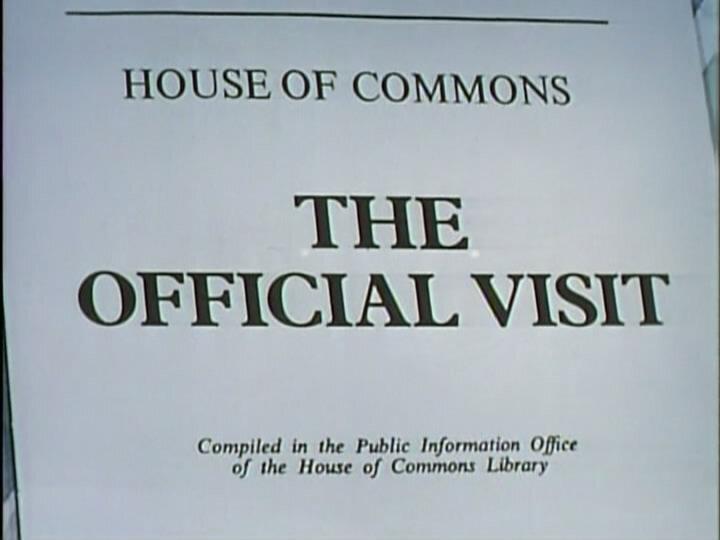 Да, господин министр — s01e02 — The Official Visit