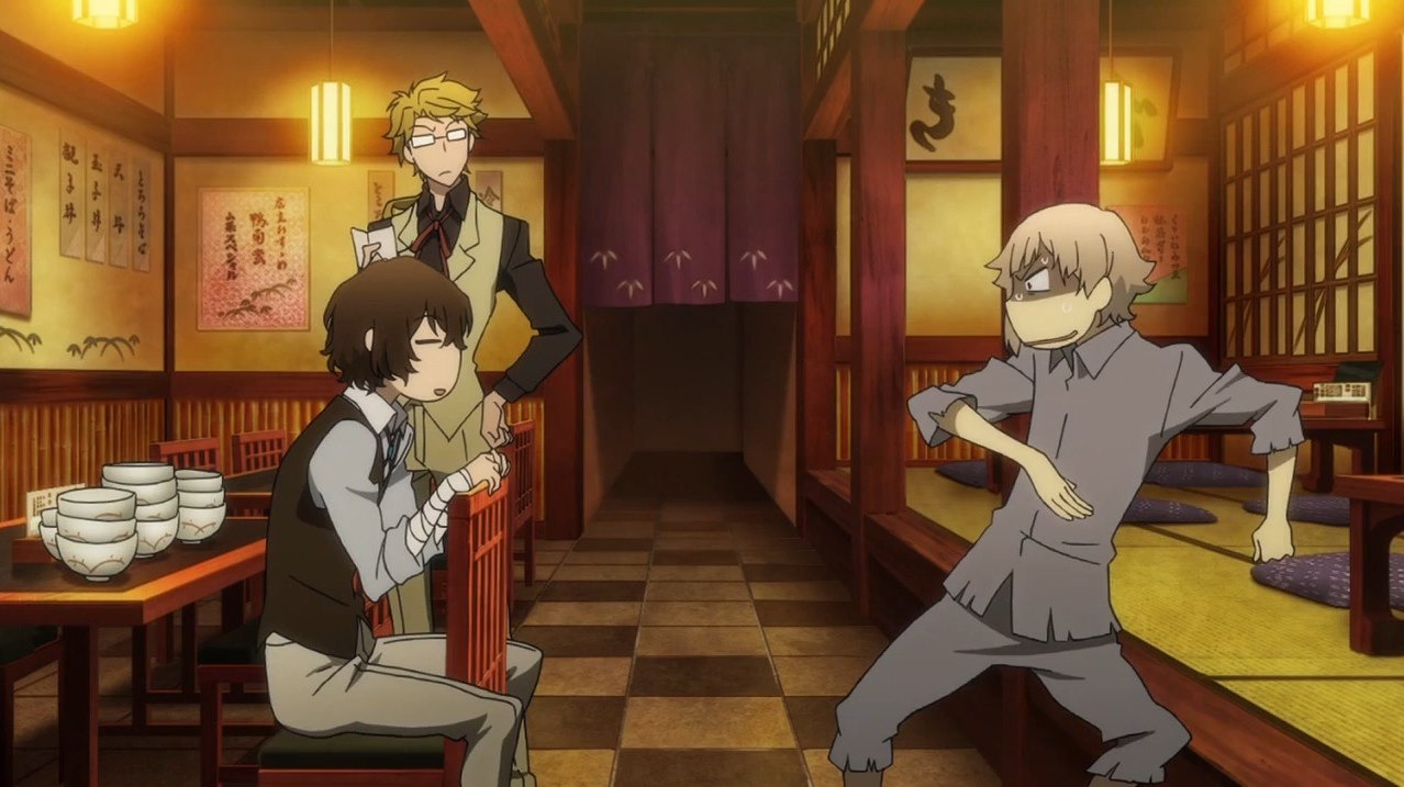 Bungou Stray Dogs — s01e01 — Fortune Is Unpredictable and Mutable