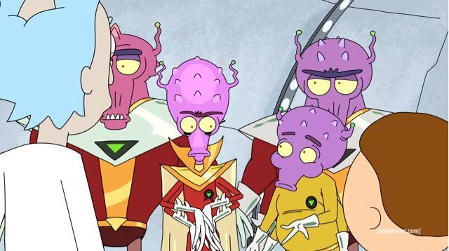 Рик и Морти — s01e04 — M. Night Shaym-Aliens!
