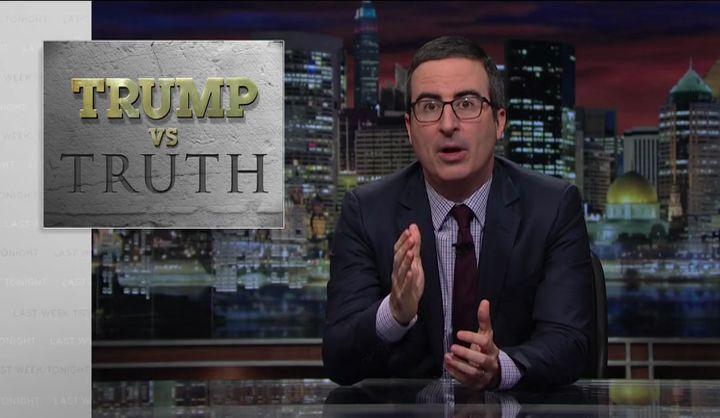События прошедшей недели с Джоном Оливером — s04e01 — Trump vs. Truth