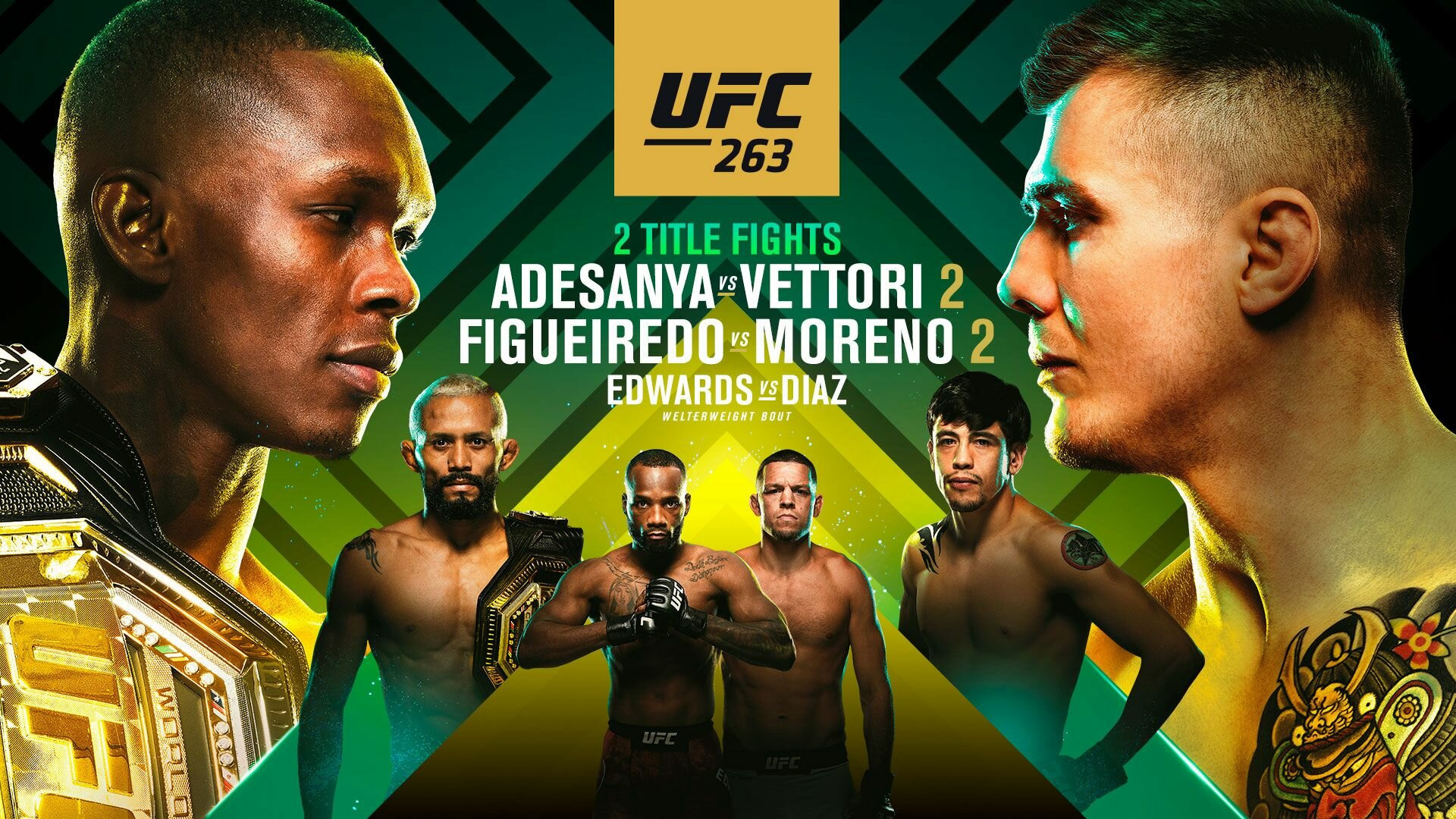 UFC PPV Events — s2021e07 — UFC 263: Adesanya vs. Vettori 2