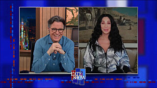 Вечернее шоу со Стивеном Колбером — s2021e56 — Cher, Sam Williams