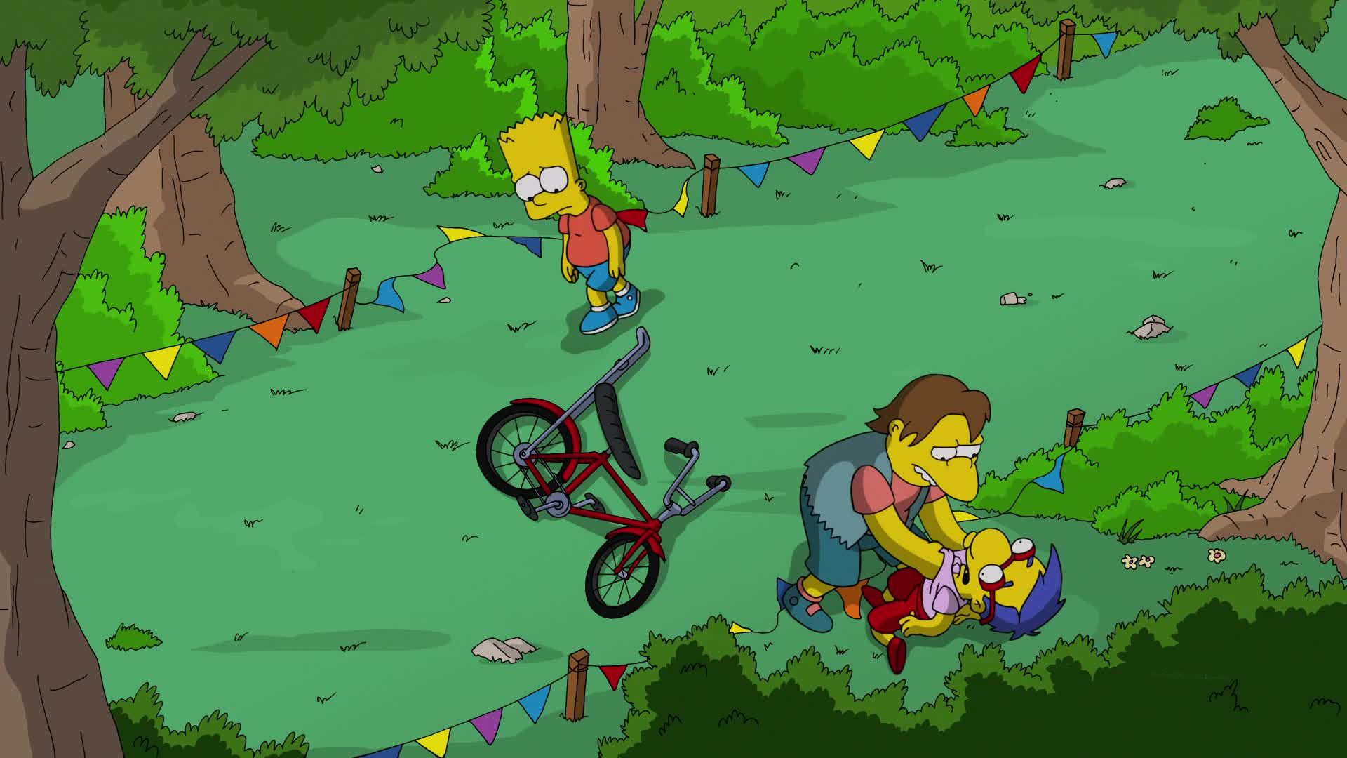 The Simpsons — s25e22 — The Yellow Badge of Cowardge