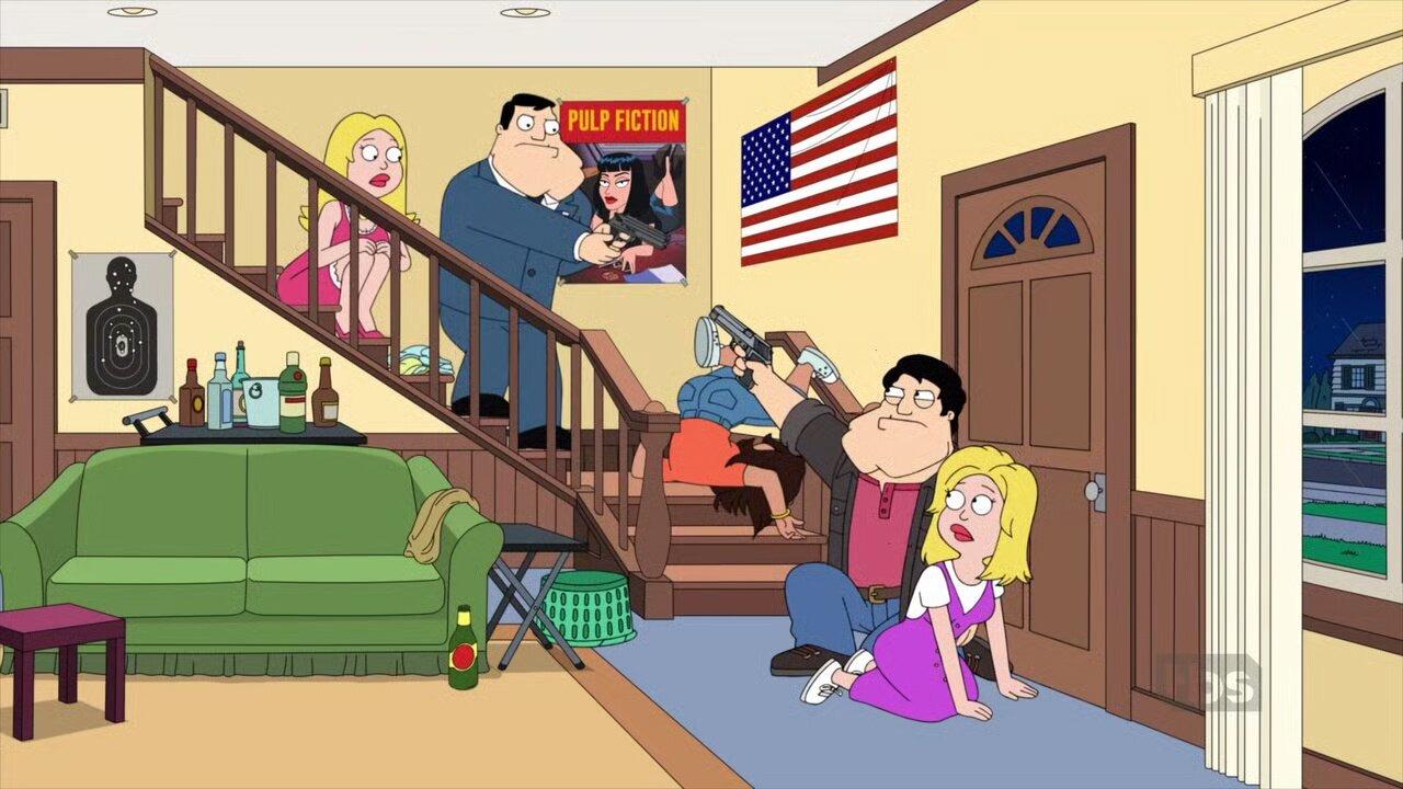 American Dad! — s17e13 — Stan & Francine & Stan & Francine & Radika