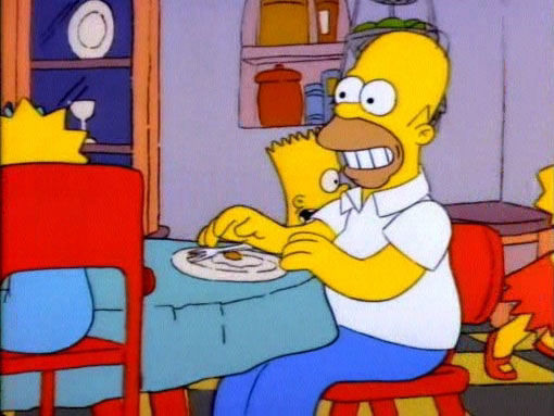 Симпсоны — s01e01 — Simpsons Roasting on an Open Fire