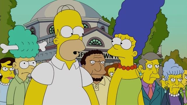The Simpsons — s26e13 — Walking Big & Tall