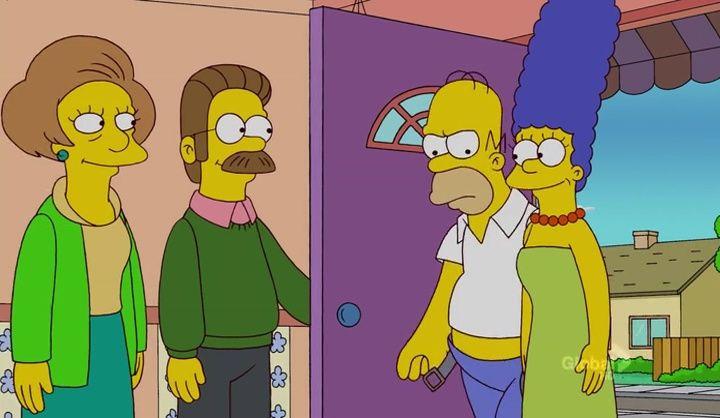 The Simpsons — s23e21 — Ned 'n' Edna's Blend