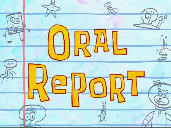 s08e09 — Oral Report