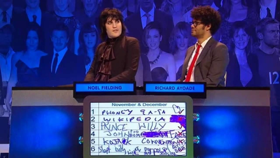 s2011e01 — The Big Fat Quiz of the Year 2010