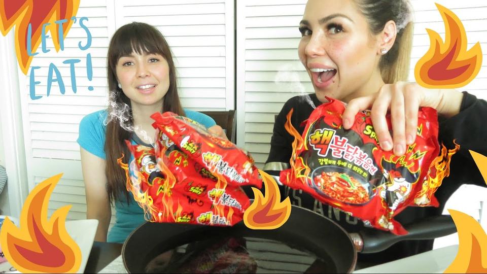 s04e11 — WORLDS 🔥 SPICIEST KOREAN RAMEN NUCLEAR FIRE NOODLE Challenge | Mukbang 먹방— Girl vs Food 핵불닭볶음면
