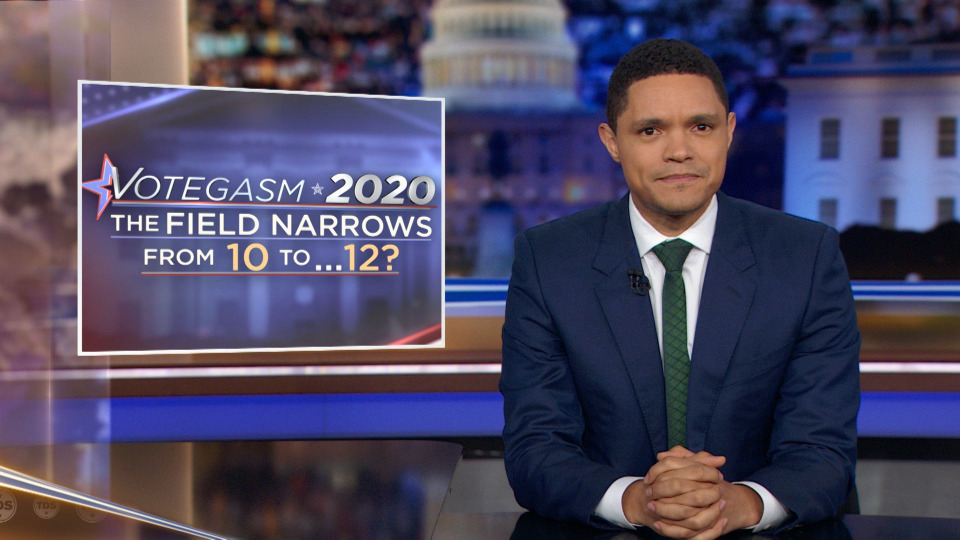 s2019e130 — Votegasm 2020: The Field Narrows From 10 to…12?