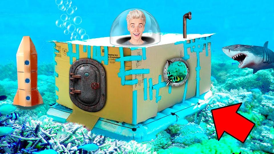 s07e115 — Подводная КАРТОННАЯ БАЗА Челлендж!
