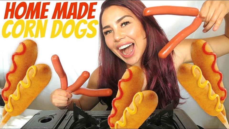 s04e40 — How to make Corn Dogs 먹방 Mukbang