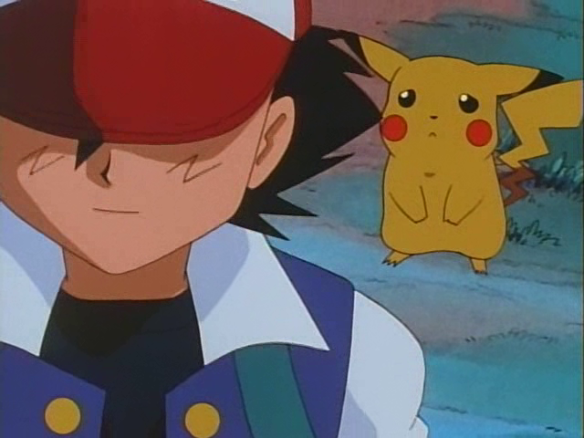 Pikachu sad ash