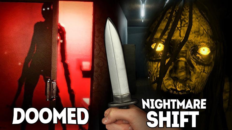 s11e184 — 2 КРУТЫХ ХОРРОРА В1 ВИДЕО ● Doomed / Nightmare Shift