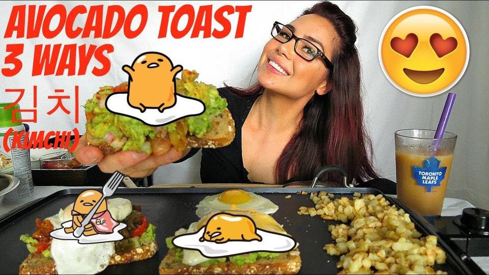 s04e39 — Eggs and Avocado Toast Mukbang 먹방 100K Giveaway
