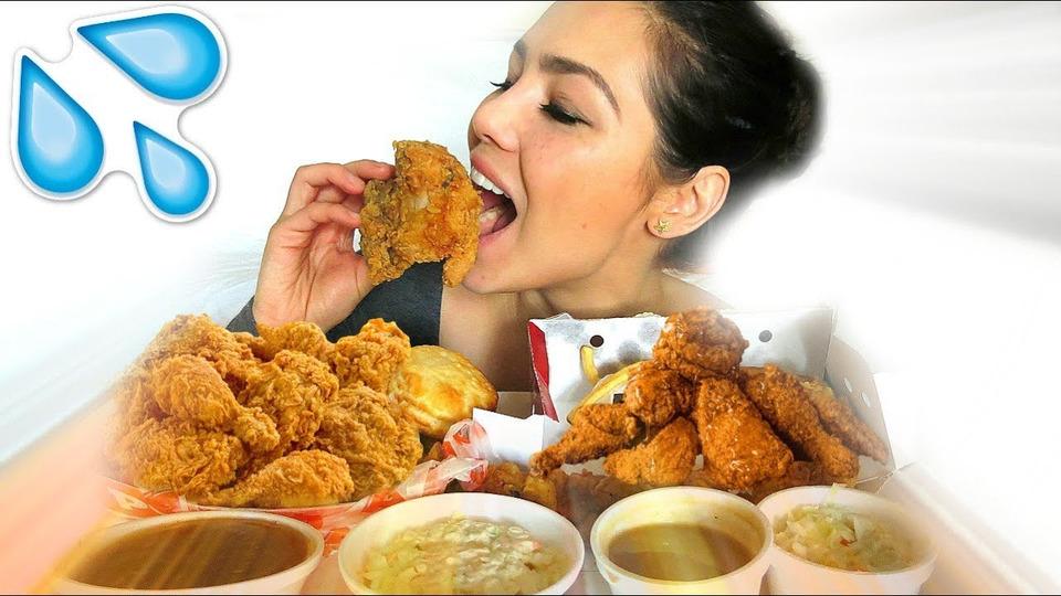 s04e49 — KFC VS POPEYES MUKBANG 먹방 EATING SHOW