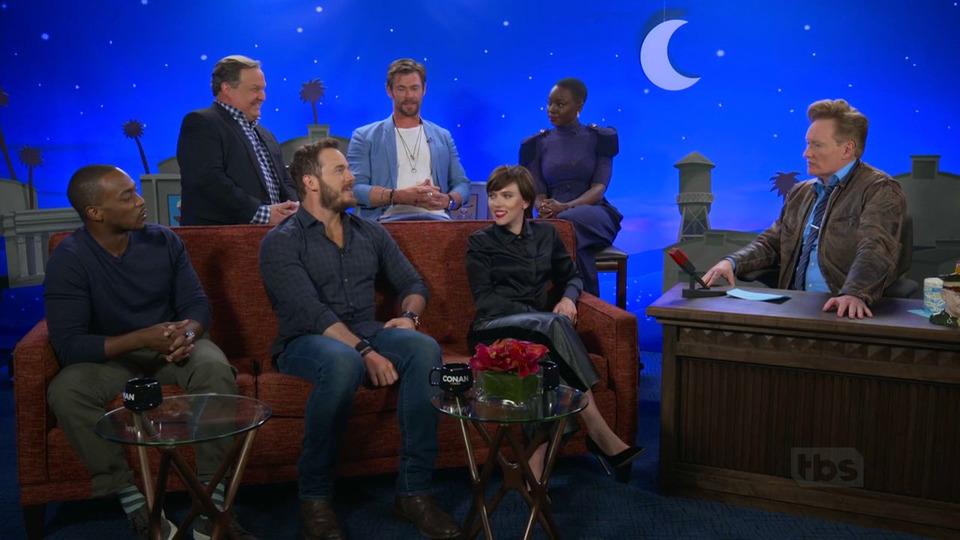 s2018e48 — Chris Pratt, Scarlett Johansson, Chris Hemsworth, Anthony Mackie, Danai Gurira