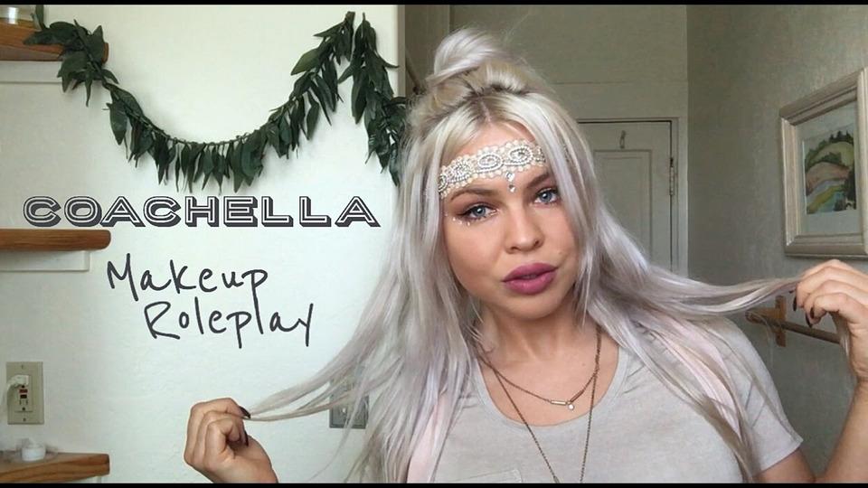 s01e06 — ~ Coachella Inspired ~ Makeup Role Play | ASMR