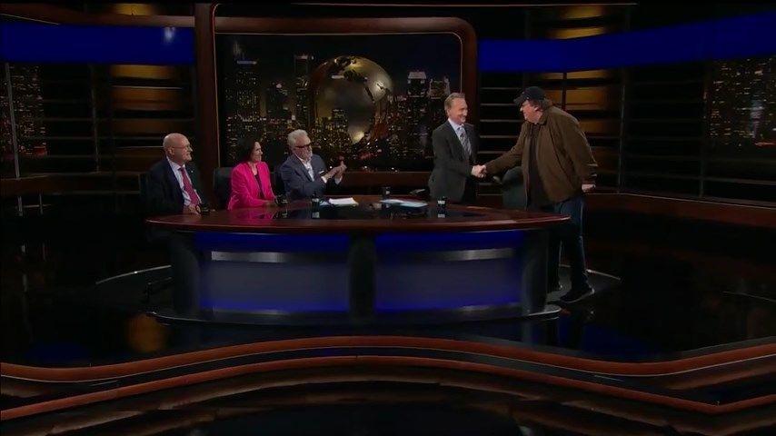 s16e21 — Ben Shapiro; Jennifer Rubin, Bradley Whitford and Lawrence Wilkerson; Michael Moore