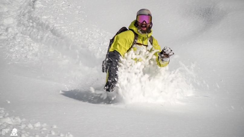 Show Kostya San. Snowboarding