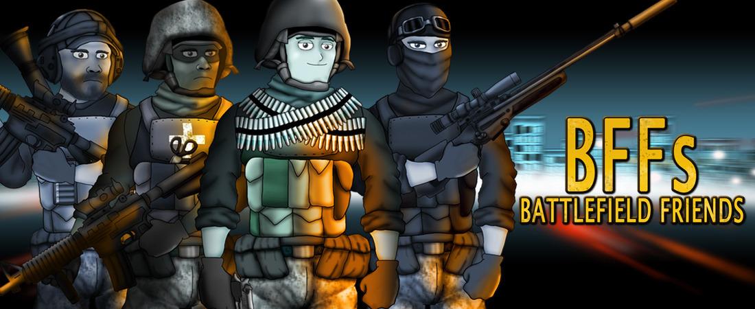 Cartoon Battlefield Friends