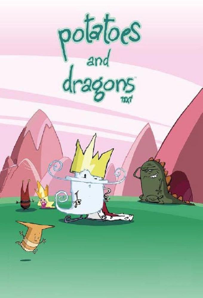 Cartoon Potatoes And Dragons