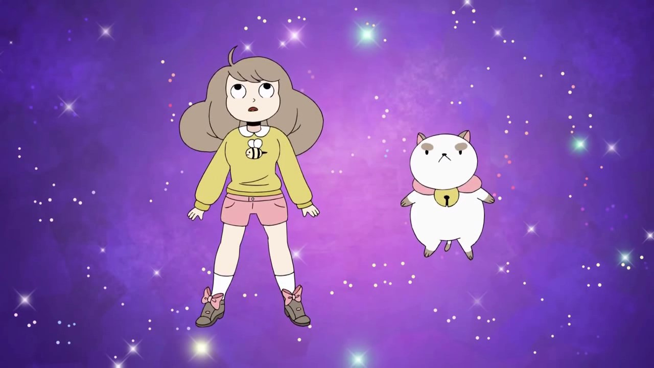 Cartoon Bee and PuppyCat